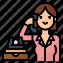 avatar, business, clerk, occupation icon