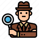 avatar, detective, investigator, occupation icon