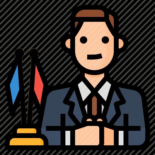 avatar, diplomacy, diplomat, occupation icon