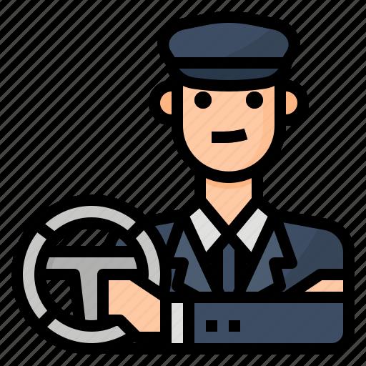 avatar, chauffeur, driver, occupation icon
