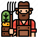 avatar, farmer, gardener, occupation icon