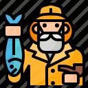 avatar, fisher, fisherman, occupation icon