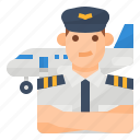 avatar, flight, occupation, pilot icon