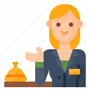 avatar, occupation, reception, receptionist icon