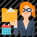 administrative, avatar, occupation, secretary icon