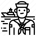 avatar, crew, occupation, sailor icon