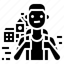 avatar, occupation, school, student icon