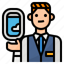 attendant, avatar, flight, occupation icon