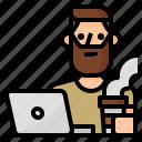 avatar, freelance, nomad, occupation icon