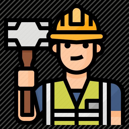 avatar, labor, laborer, occupation icon