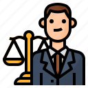 attorney, avatar, lawyer, occupation icon