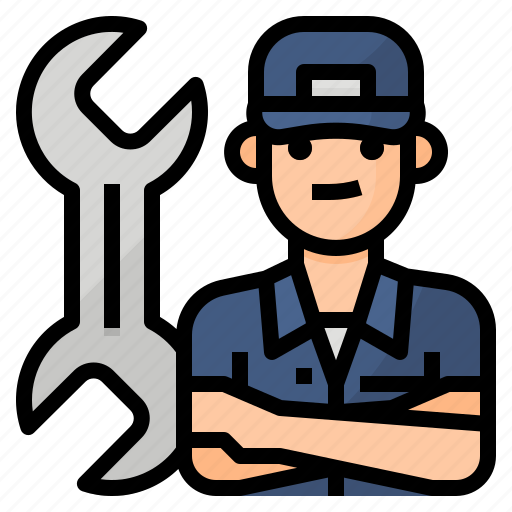 avatar, mechanic, occupation, service icon