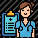 avatar, doctor, nurse, occupation icon