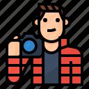 avatar, occupation, photographer, photographs icon