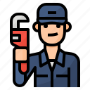 avatar, occupation, plumber, plumbing icon