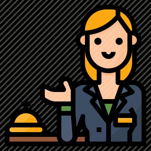 avatar, occupation, reception, receptionist icon