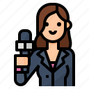 avatar, journalist, occupation, reporter icon