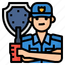 avatar, guard, occupation, security icon
