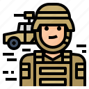 army, avatar, occupation, soldier icon