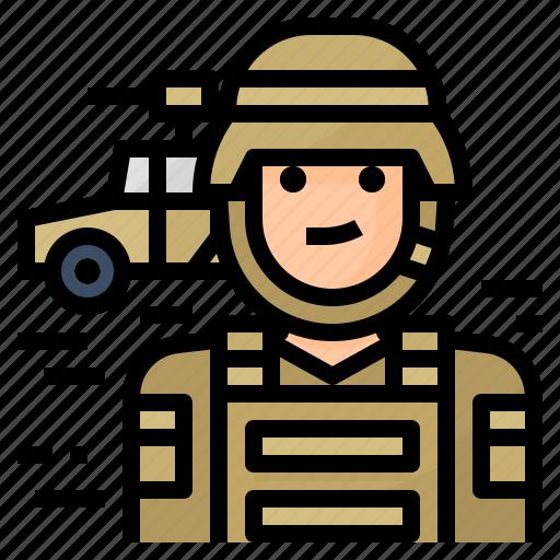 army, avatar, occupation, soldier icon