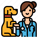 veterinarian, avatar, vet, occupation icon