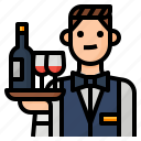 avatar, occupation, staff, waiter icon