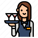 avatar, occupation, staff, waitress icon