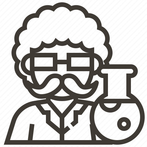 avatar, beaker, man, occupation, scientist icon