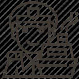 avatar, boat, captain, man, occupation icon
