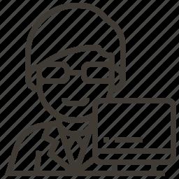 avatar, computer, engineer, man, occupation icon