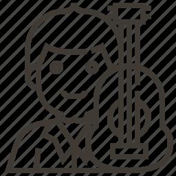 avatar, guitar, man, musician, occupation icon
