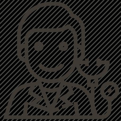 avatar, doctor, man, occupation, stethoscope icon