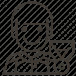 athlete, avatar, award, badge, man, medal, occupation icon