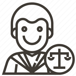avatar, judge, man, occupation icon
