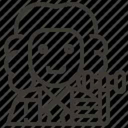 avatar, gavel, judge, man, occupation icon