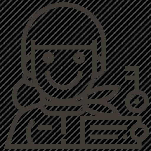 avatar, key, locksmith, occupation, woman icon