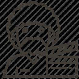 avatar, clap board, director, man, occupation icon