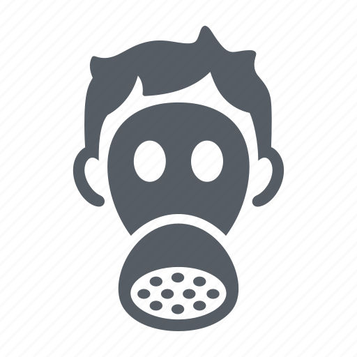 chemical, danger, gas, mask, protection, toxic icon