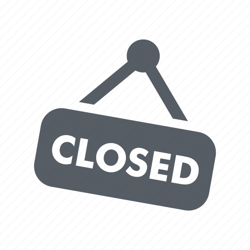 business, closed, retail, shop, sign, store icon