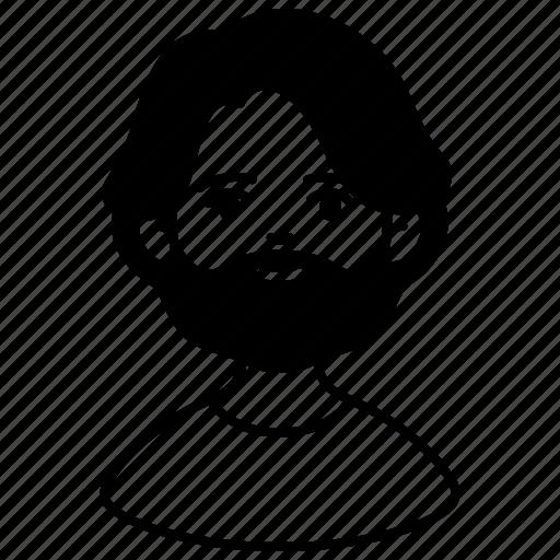 assistant, avatar, beard, career, male, man, people icon