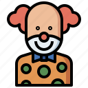 baby, birthday, carnival, circus, clown, doll, fairground, jobs, kid, party, people, professions
