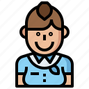 air, attendant, flight, fly, hostess, jobs, people, profession, professions icon