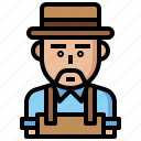 avatar, farmer, farming, gardening, job, jobs, man, occupation, people, profession, professions icon