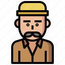 beard, humanpictos, jobs, lumberjack, people, profession, professions, woodcutter icon