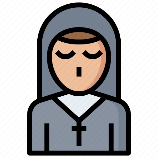 avatar, catholic, christian, cultures, job, nun, occupation, people, profession, religious, woman icon