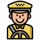 avatar, avatars, driver, job, jobs, people, profession, professions, profile, social, taxi, user