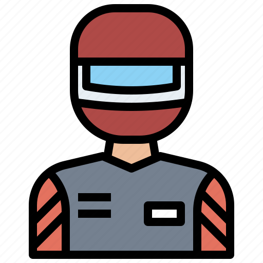 and, avatar, helmet, job, jobs, occupation, people, profession, professions, racer, user icon