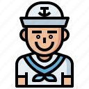 avatar, avatars, jobs, man, people, profession, professions, profile, sailor, social, user icon