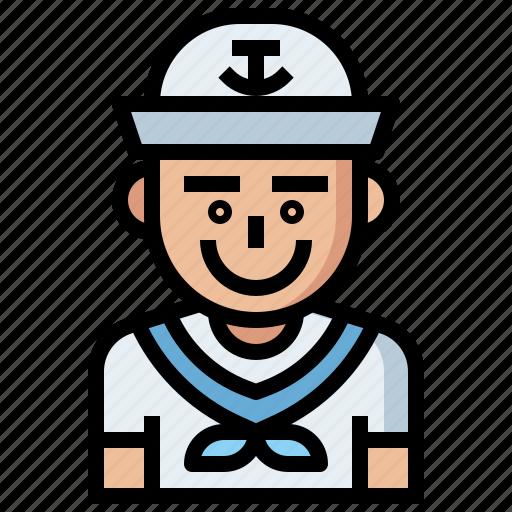 avatar, avatars, jobs, man, people, profession, professions, profile, sailor, social, user icon