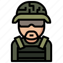 army, avatar, gun, job, man, military, occupation, people, persons, profession, soldier, strategy, war, weapon icon